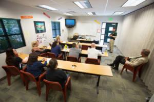 Carson City Sheriff's Deputy Josh Chaney speaks during a drug awareness training seminar at the Murphy-Bernardini Regional Juvenile Detention Center in Carson City, Nev., on Tuesday, June 28, 2016. Photo by Brad Horn