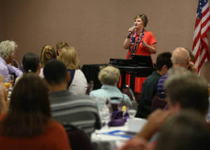 Jo McGuire, an expert on workplace drug and alcohol issues, speaks at a Marijuana in the Workplace seminar hosted by Partnership Carson City at the Gold Dust West in Carson City, Nev., on Friday, June 10, 2016. Cathleen Allison/Las Vegas Review-Journal