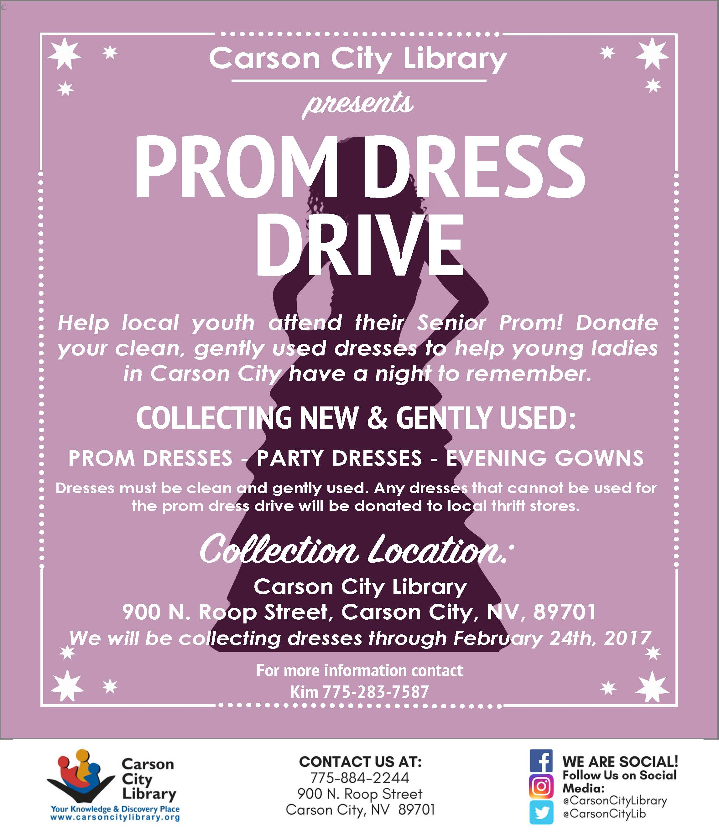 Prom Dress Drive at The Carson City Library - Partnership Carson City