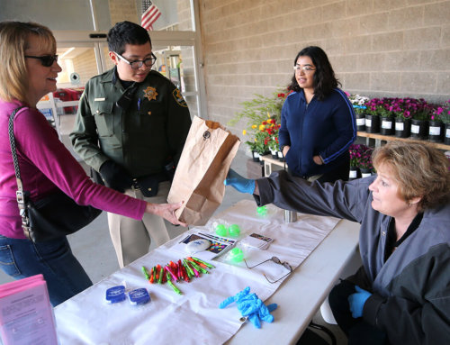 Residents drop off unused drugs, needles for disposal